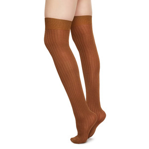 Overknee Strümpfe Ella Camel - Swedish Stockings