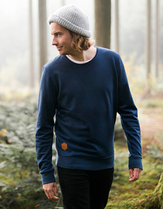 Bio-Sweater 'Anton in navy, khaki und grey' - Zerum