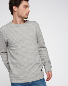 Sweatshirt grey melange - recolution