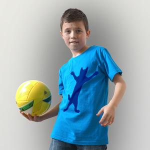 'Klammerkatze' Kinder T-Shirt  - shop handgedruckt
