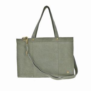 Elegante - Laptoptasche Rindsleder - graugrün - MoreThanHip