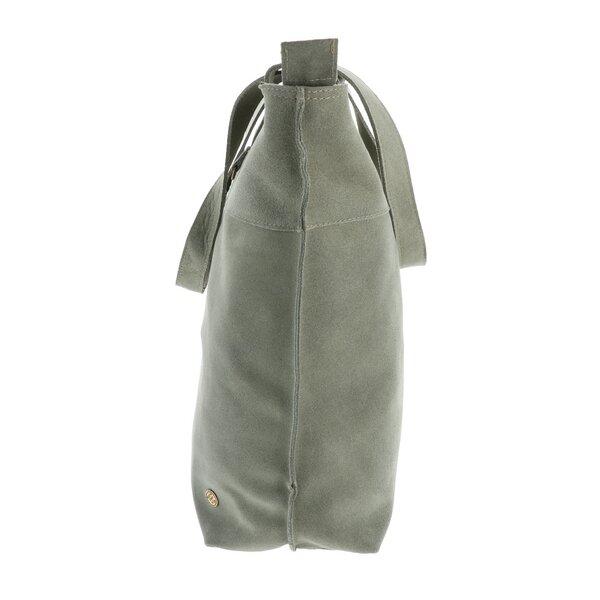 ecc0e71a20476 MoreThanHip - Estilo Shopper Rindsleder graugrün