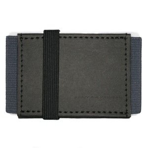 Kleines Portemonnaie Mini Geldbeutel Geldbörse A&K MINI schwarz-grau - ANDERS & KOMISCH