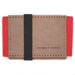 Kleines Portemonnaie Mini Geldbeutel Geldbörse A&K MINI braun-rot - ANDERS & KOMISCH