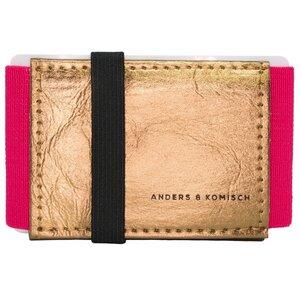 Kleines Portemonnaie Mini Geldbeutel Geldbörse A&K MINI gold-pink - ANDERS & KOMISCH
