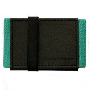 Kleines Portemonnaie Mini Geldbeutel Geldbörse A&K MINI schwarz-mint - ANDERS & KOMISCH