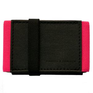 Kleines Portemonnaie Mini Geldbeutel Geldbörse A&K MINI schwarz-pink - ANDERS & KOMISCH