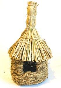 Vogelhaus aus Kokos, Jute und Palmgrass (Ø 16 cm) - fairanda