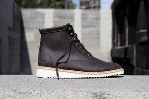 Desert High / Braunes Geöltes Glattleder / Ripplesohle - ekn footwear