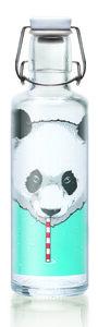 soulbottle 0,6l  'Thirsty Panda' Trinkflasche aus Glas - soulbottles
