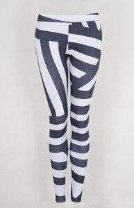 Legging stripes aus Bio Jersey - Lena Schokolade