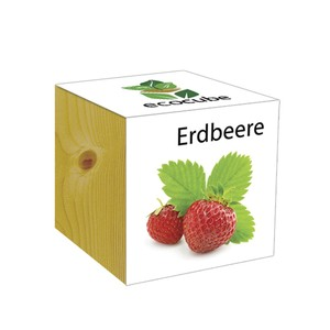 ecocube Erdbeere - Holzwürfel - Extragoods