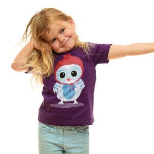 Shirt Wintereule, Lila Beere - Printe