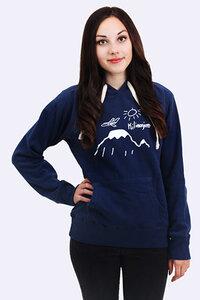 Kilimanjaro Navy girls hoodie - Kipepeo-Clothing