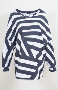 Sweater Stripes aus Bio-Baumwolle - Lena Schokolade