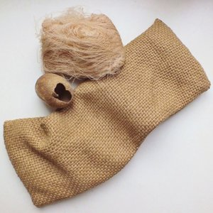 Kirschkernkissen AGRA aus Tussar Peace Silk (Wildseide) - MAVOLU