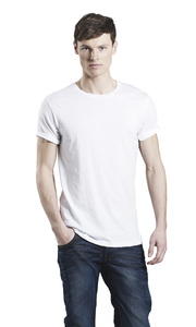 Men's Organic Roll Up Sleeve T-Shirt - EarthPositive