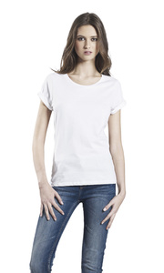 Women's Organic Roll Up T-Shirt - EarthPositive
