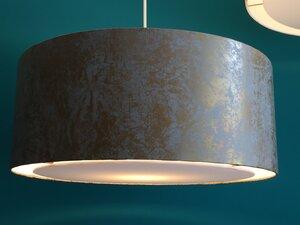 Hängeleuchte flat Venice grau gold - my lamp