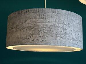 Hängeleuchte flat Beton grau - my lamp