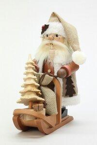 Räuchermann Weihnachtsmann Schlitten natur - Ulbricht