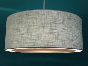Hängeleuchte flat Leinen  - my lamp