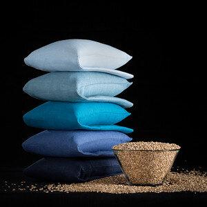 Wärmekissen mit Bio-Weizenkörnern Blautöne - Terrible Twins