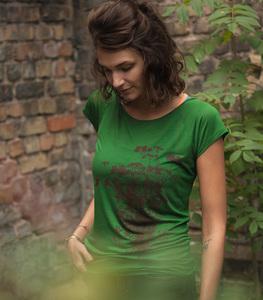 Pflanzen Kolibri V2 - Fair gehandeltes Tencel Frauen T-Shirt - Grün - päfjes