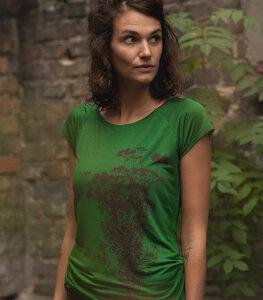 Pflanzen Kolibri V2 - Fair gehandeltes Tencel Frauen T-Shirt - päfjes