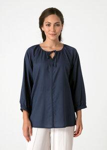 Leichte Bluse aus Tencel® mit Bindeband am Ausschnitt - ORGANICATION