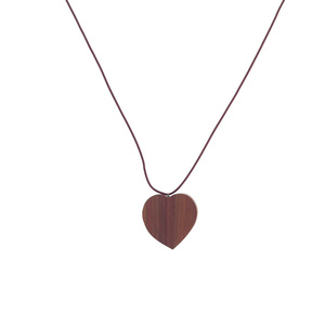 Herzkette aus Palisanderholz handgefertigt - Lajos Varga