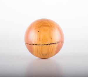 Dekokugel aus Pflaumenholz handgefertigt - Unikat - Lajos Varga