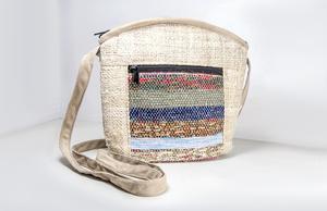 HH Handtasche CHEKKA Bag aus Bio-Hanf und Recycle-Sari  - Himal Hemp