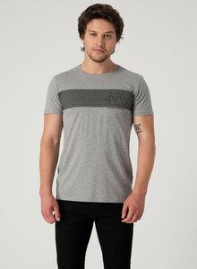 Bike Print T-Shirt aus Bio Baumwolle in Slub Jersey - ORGANICATION