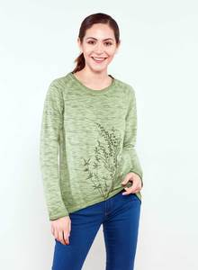 Langarmshirt aus Bio Baumwolle mit Rundhalsausschnitt  - ORGANICATION