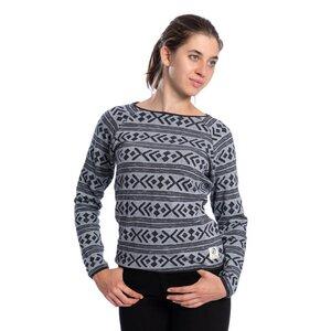 Fjordastic Pullover Damen Grau - bleed