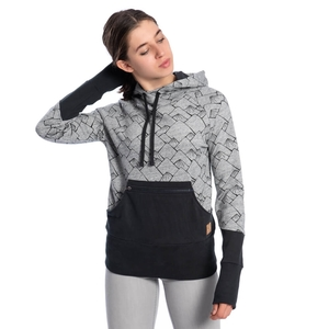 Mountain Kapuzenpullover Damen Schwarz - bleed