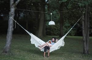 Salao, romantische Hängematte aus Bio-Baumwolle, GOTS zertifiziert - HängemattenGlück