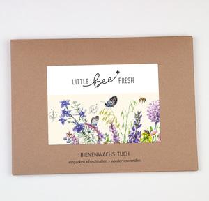 Brottuch Bienenwachstuch XXL - 60x40 cm - little bee fresh