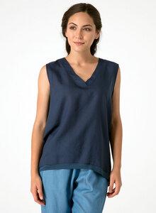 Leichte Ärmellose Bluse aus Tencel® mit V-Ausschnitt - ORGANICATION