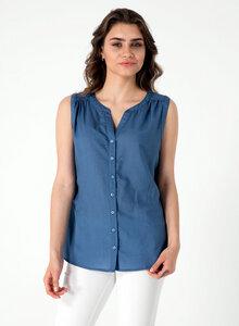 Bluse aus Tencel® mit durchgehender Knopfleiste - ORGANICATION