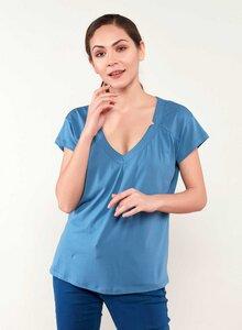 T-shirt aus Tencel® und Baumwolle mit längerem Rückenteil - ORGANICATION