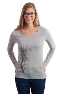 Fairwear Organic Longsleeve Women Heather Grey Esche - Life-Tree
