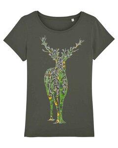 T-Shirt Hirsch mit Muster - YTWOO