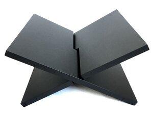 Zeitungsständer Bücherständer Zeitschriftständer matt schwarz 37x29 cm aus Holz - Fairtrade - fairanda