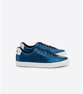 Sneaker Damen -  Esplar Leather Petrole - Veja