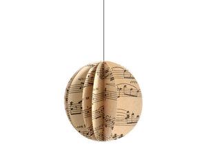 Weihnachtskugel Kugel mit Noten aus Papier Baumschmuck - renna deluxe