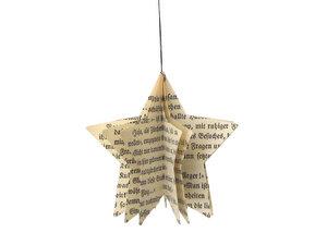 Stern Anhänger aus Papier Baumschmuck - renna deluxe