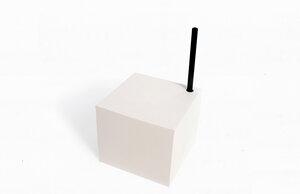 Notizblock Würfel, schwarzes oder weißes Papier+ schwarzer Bleistift, schwarzes Papier und handgebunden mit Stifthalter Loch - tyyp
