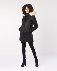 Winterjacke - Ladies' Nordic Parka - Black - Hoodlamb